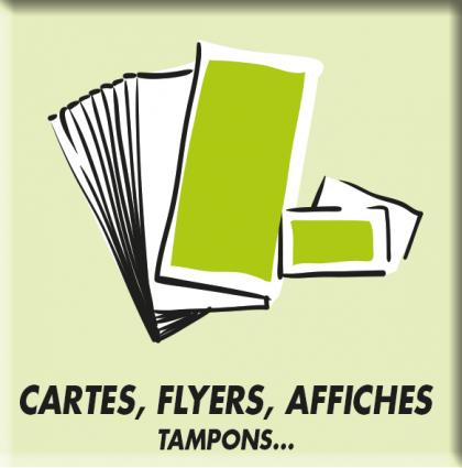 Cartes de visite, flyers, affiches, posters…