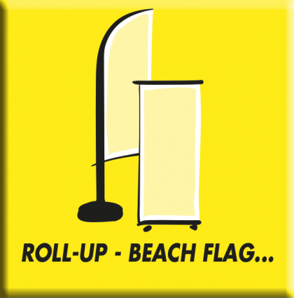 Roll-up, beach flag, drapeau…