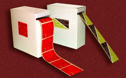 Distributeur étiquettes adhésives